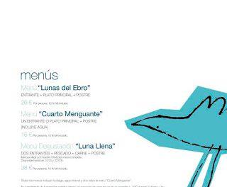 Carta Lunas de Ebro, (hasta final de verano)