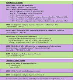 Ecoencuentro de la EcoRed de Aragón (días 13 y 14)