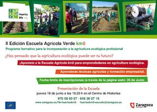 Presentación de la Escuela Agrícola Verde Km0 (jueves, 18)