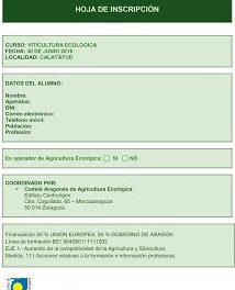 CALATAYUD. Curso de viticultura ecológica (martes, 30)