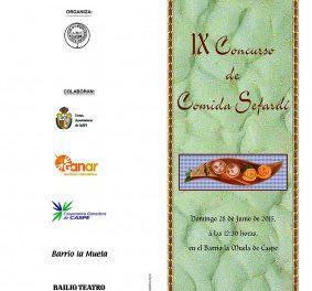 CASPE. IX Concurso de comida sefardí (domingo, 28)