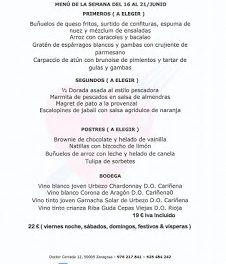Menú semanal en el Idílico Restaurante, por 19/22 euros (del 16 al 21)