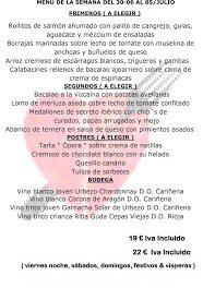 Menú semanal en el Idílico Restaurante, por 19/22 euros (del 30 de junio al 5 de julio)