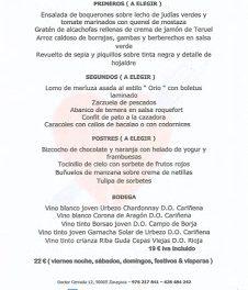 Menú de junio en el Idílico Restaurante (junio)