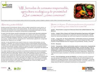 VIII jornadas de consumo responsable, agricultura ecológica y de proximidad ¿qué comemos?, ¿cómo comemos? (días 16 y 17)