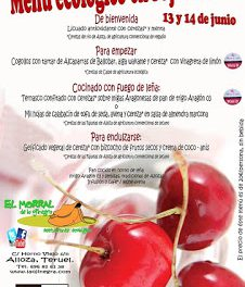 ALLOZA. Menú ecológico en rojo cereza (días 13 y 14)