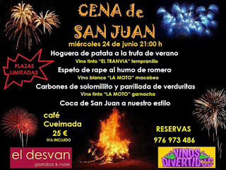 Cena de san Juan (miércoles, 24)