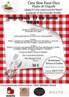 HUESCA. Cena Slow Food (miércoles, 17)