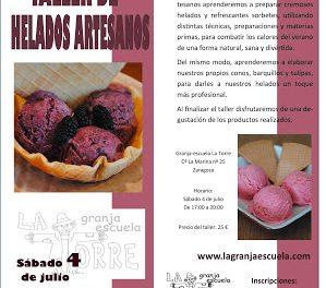 Taller de helados (sábado, 4 de julio)