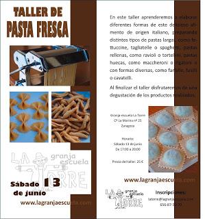 Taller de pasta fresca (sábado, 13)