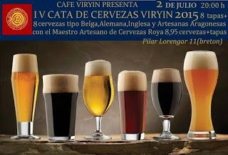 Cata de cervezas (jueves, 2 de julio)