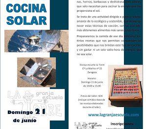 Taller de cocina solar (domingo, 21)