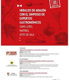Simposio de Expertos Gastronómicos (lunes, 22; lunes y martes, 29 y 30; 28 de septiembre)