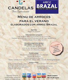 Menú de arroces para el verano, con Brazal, en El Candelas (del 4 de julio al 17 de julio)
