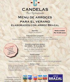 Menú de arroces para el verano, con Brazal, en El Candelas (del 18 de julio al 31 de julio)