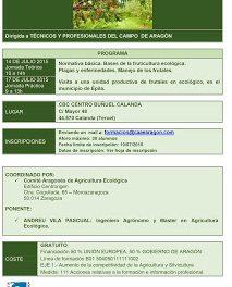 CALANDA. Curso sobre Fruticultura ecológica en frutales de hueso (14 y 17 de julio)