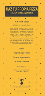 Curso de cocina Haz tu propia pizza artesanal (jueves, 16)