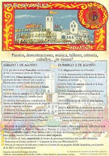 SOS DEL REY CATÓLICO. Feria de artesanía (días 1 y 2 de agosto)
