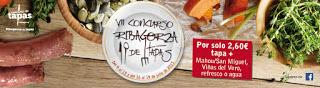 RIBAGORZA. Concurso de tapas (del 9 al 12 y del 16 al 19 de julio)