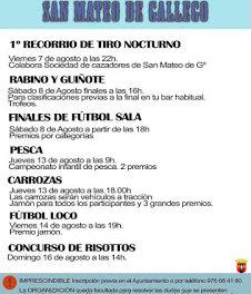 SAN MATEO DE GÁLLEGO. Concurso de risottos (domingo, 16)