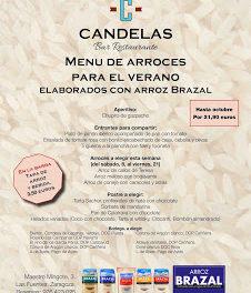 Menú de arroces para el verano, con Brazal, en El Candelas (del 8 al 21 de agosto)