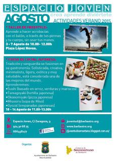 BARBASTRO. Curso de cocina japonesa para jóvenes (del 10 al 14)