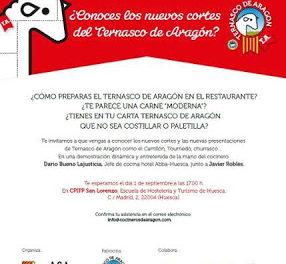HUESCA. Curso de cocina de Ternasco de Aragon para profesionales (martes, 1)