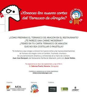 Curso de cocina de Ternasco de Aragon para profesionales (miércoles, 2)