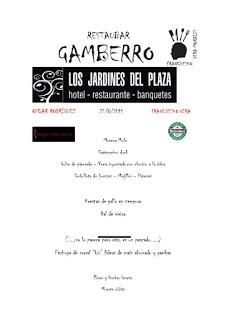 Cena a cuatro manos en GAMBERRO (jueves, 27)