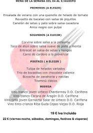 Menú semanal en el Idílico Restaurante, por 19/22 euros (del 4 al 9 de agosto)