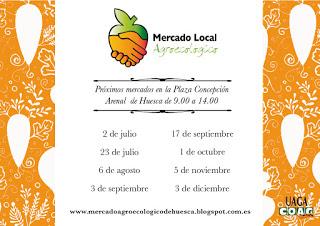 HUESCA. Mercado agroecológico (jueves, 3 de septiembre)