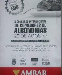 TABUENCA. Concurso de comedores de albóndigas (sábado, 29)