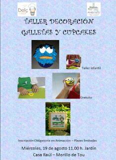 MORILLO DE TOU. Talleres de galletas y cupcakes (días 19 y 20)