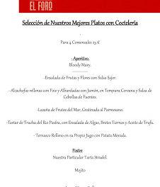 Jornadas Los Mejores platos (fines de semana de septiembre)