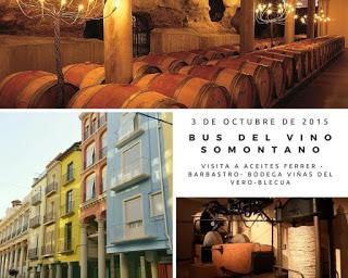 Excursión bus del vino Somontano (sábado, 3)