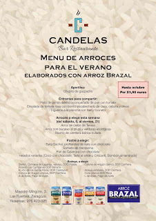 Menú de arroces para el verano, con Brazal, en El Candelas (septiembre)