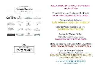 Cata cena maridada en Los Cabezudos con Codorniu Raventos y Champagne Pommery (jueves, 17)