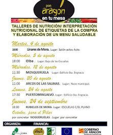 RUBIELOS DE MORA. Taller de nutrición (jueves, 24 de septiembre)