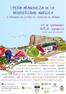 BORJA. Feria aragonesa de la biodiversidad agrícola. VI Jornadas de la Red de Semillas de Aragón (del 11 al 13)