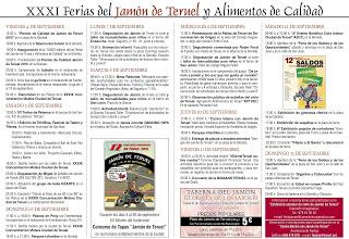 Feria del jamón de Teruel y Alimentos de Calidad (del 4 al 13 de septiembre)