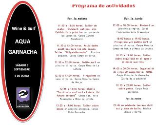 BORJA. AQUAGARNACHA. Surf & Wine (sábado, 5)