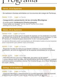 PANTICOSA. Jornadas micológicas (del 25 al 27)