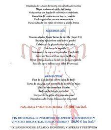 Nuevo menú en Maria Morena (hasta el Pilar)