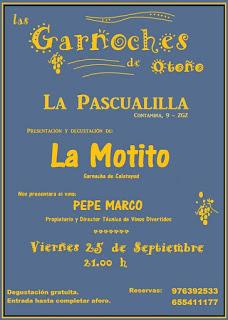 Presentación de vino en La Pascualilla (viernes, 25)