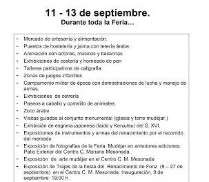 Feria mudéjar (del 11 al 13 de septiembre)