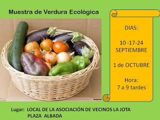 Muestra agroecológica (jueves, 24, y 1 de octubre)