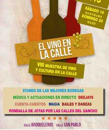 Muestra de vino y cultura en la calle (sábado y domingo, 19 y 20)