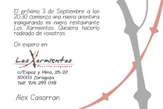 Inauguración del restaurante Los Xarmientos (jueves, 3)