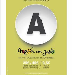 Festival gastronómico Aragón con gusto (del 30 de octubre al 8 de noviembre)