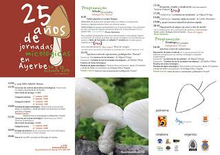AYERBE. Jornadas micológicas (días 24 y 25 octubre)